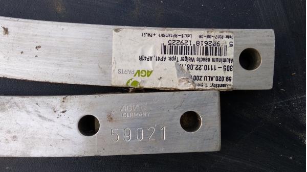 Игла алюминиевая пресс-подборщика Welger (Велгер) 59.021.00/ALU для моделей AP42, AP38, AP500